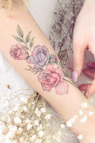 117968743 Pass your love through tattoos.We have a photo gallery where you can  discover pretty and meaningful rose tattoos ideas. Pick those you like the  most and ...
