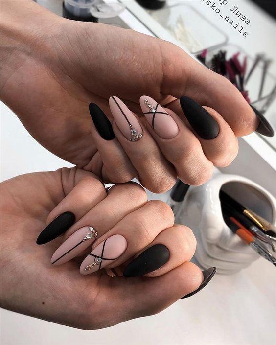 Elegant Almond Matte Nails Design Ideas